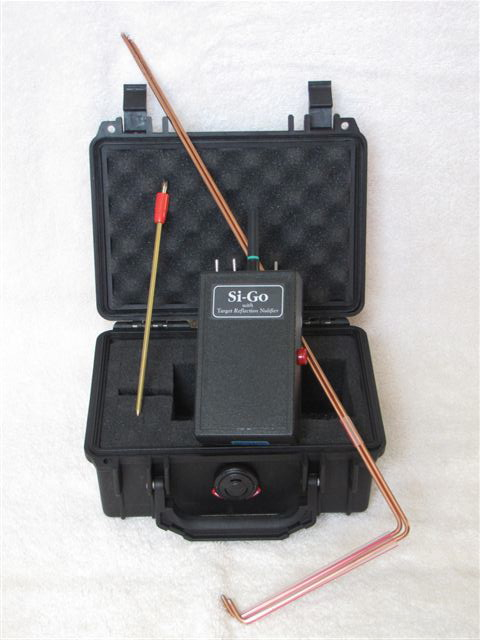 Si-Go with TNR can be placed in ground via probe or just placed in your pocket.